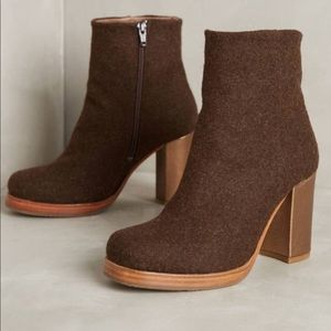 Anthropologie Cubanas High Field Brown Boot